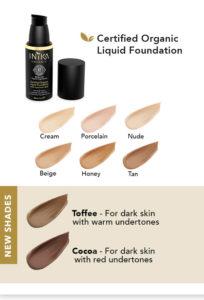 Inika Organic Liquid Foundations